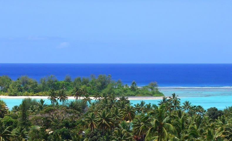 Stunning views from Villa Maria balcony. Yes the colours are real!!!