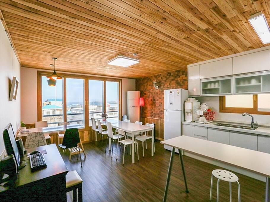 Shared Kitchen & living room