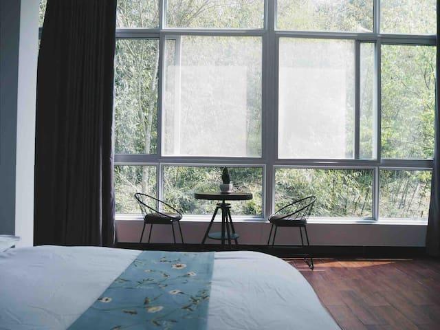 家庭双大床套房/落地窗/黄山北站免费接送/近西溪南