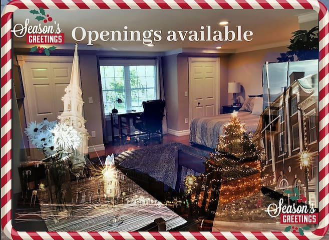 Happy Holidays! Book with us!  5 Star Air B&B
