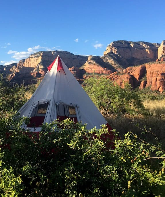 your own tepee in the red rocks