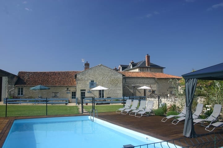 3 newly converted gites with swimming pool