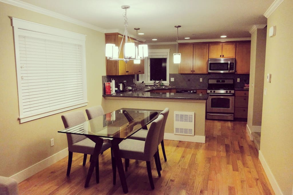 Shared dining space and kitchen