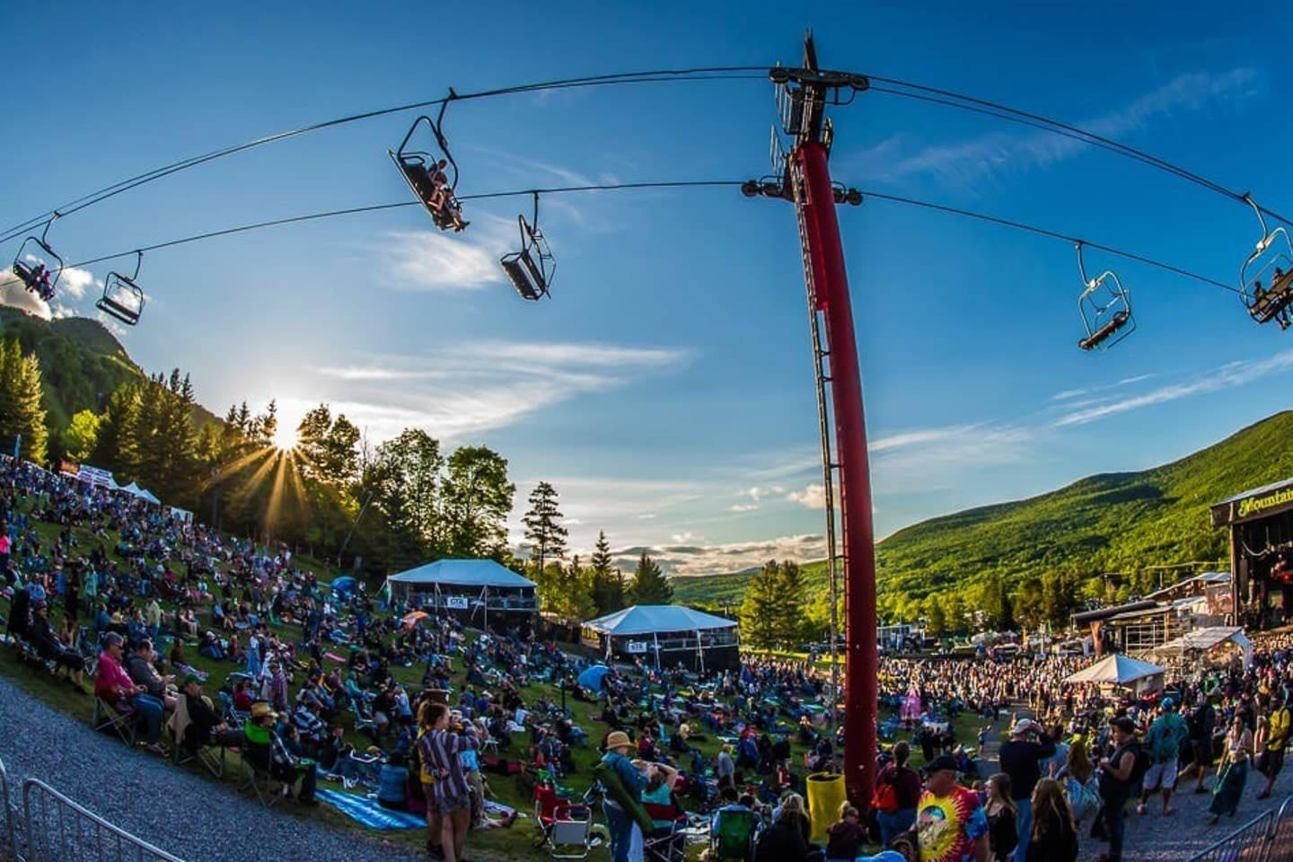 Festivals all season long at the mountain, just a short walk from the condo.