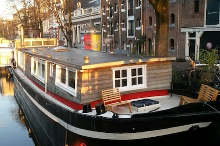 Cosy little studio in a houseboat. - Amsterdam - Boot