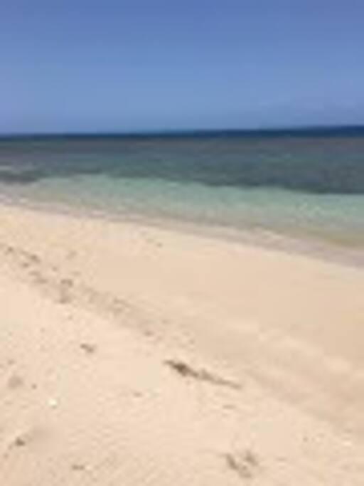 Beach is only a 2min walk away!