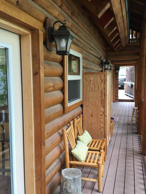 cozy river front log cabin close to kirkwood cabins