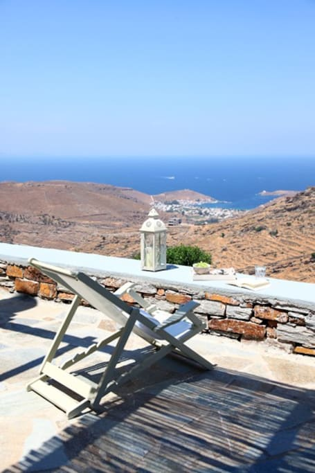 Breathtaking view to the port of KEA and the Aegean