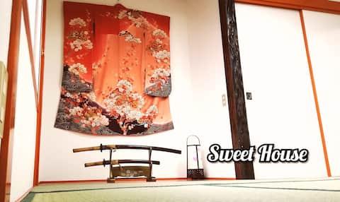 Sweet House/Japanese style/2 Free parking /WiFi