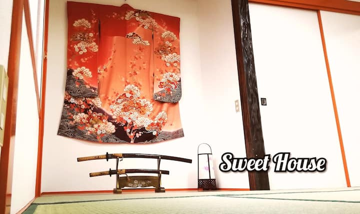 Sweet House/Japanese style/2 Free parking /WiFi
