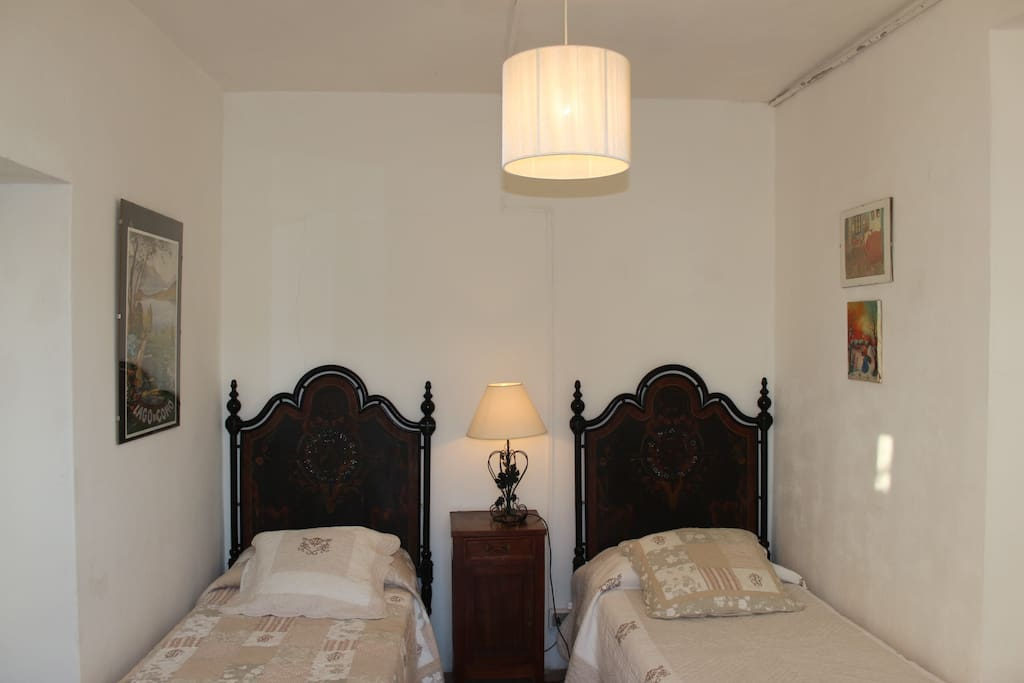 The two twin beds in the children room