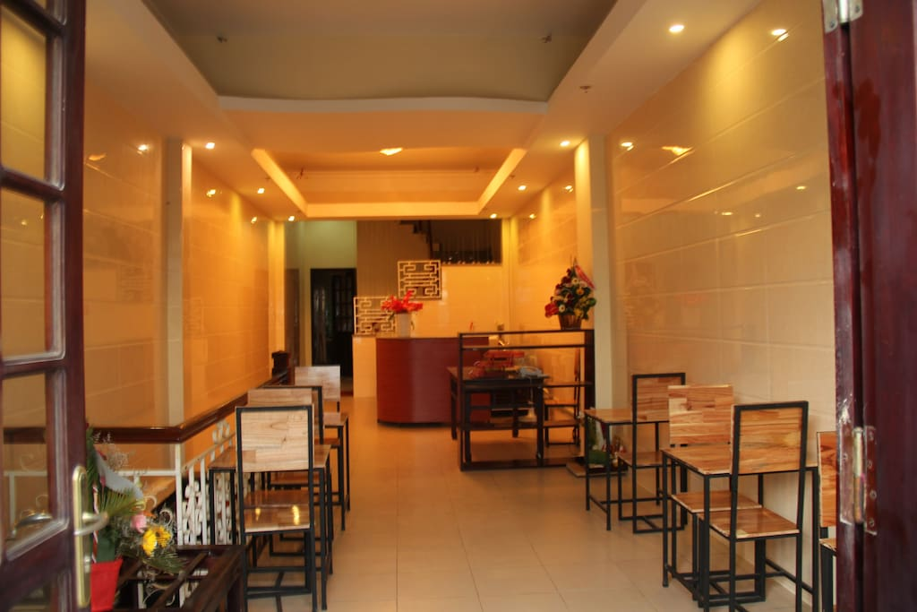 restaurant and reception desk