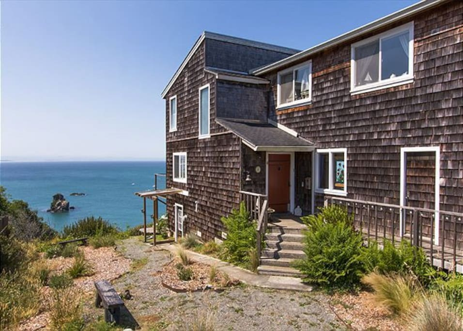 This Cape Cod style home with ocean views can't be beat.