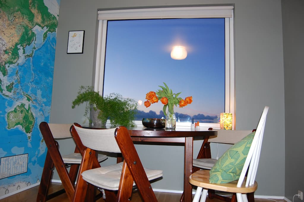 Dining room area with view