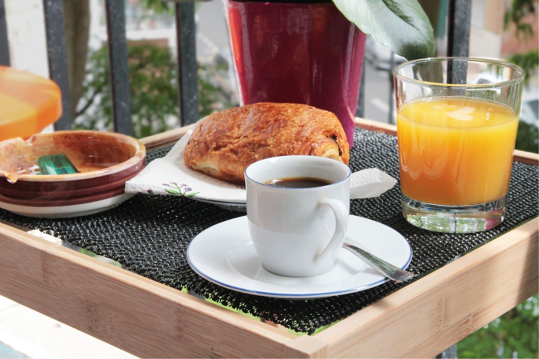 Nous vous offrons le petit-déjeuner