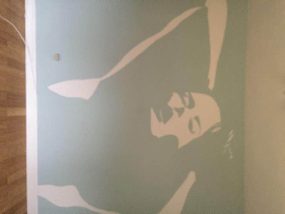 Mural on Bedroom
