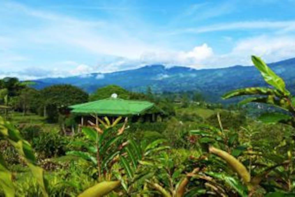 Magnificent views of Turrialba Volcano, Costa Rica's most active volcano