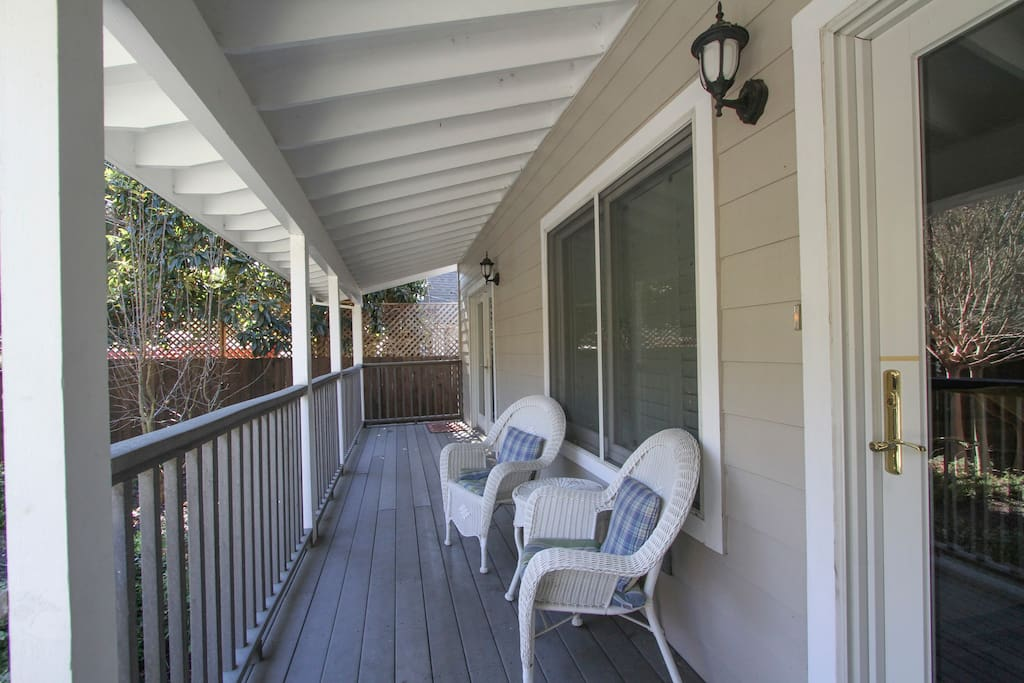 Take a moment for yourself on the porch!