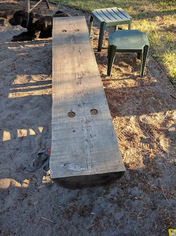 Benches around the firepit