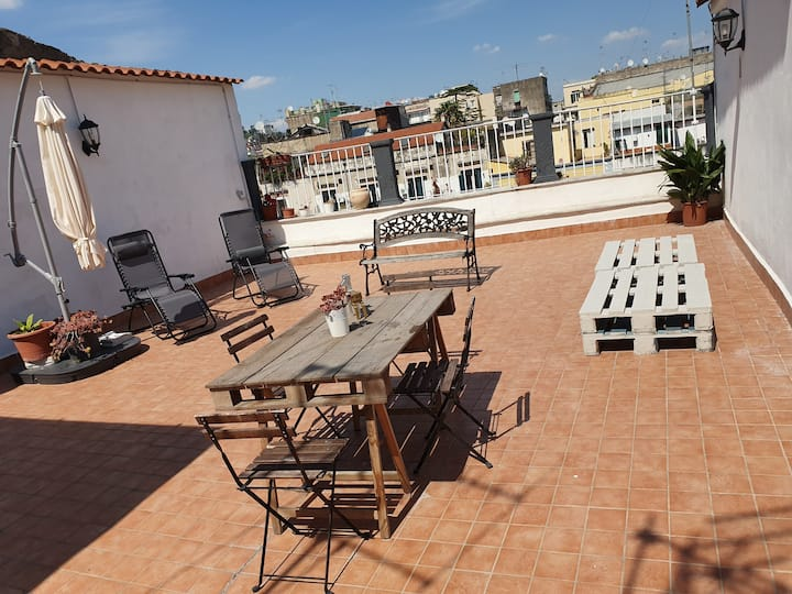 TRESOR apartment, terrace in the historical center