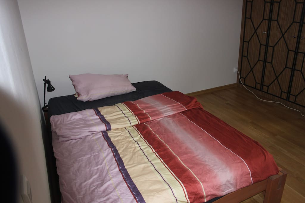 Comfy double bed (width 1.4 m).