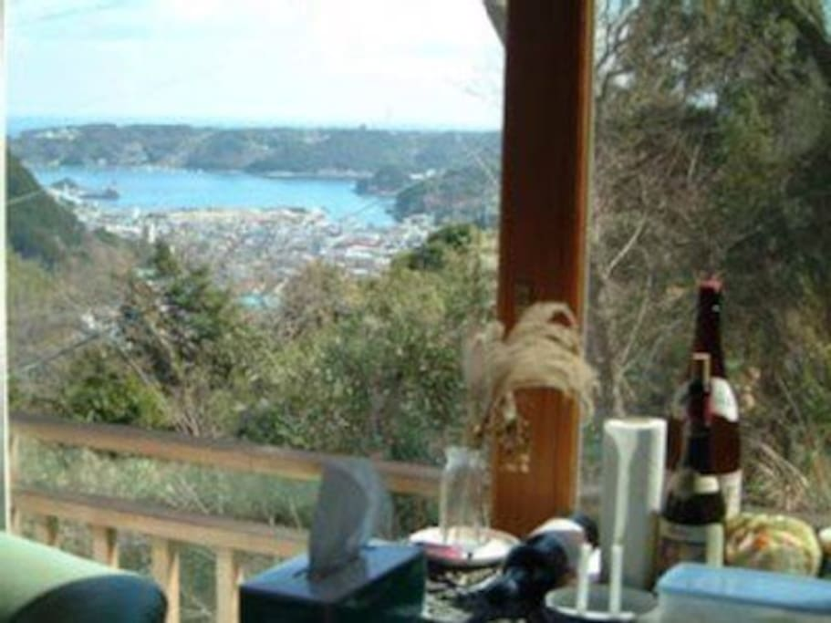 Ocean. View from living area also BLACK SHIP FIREWORKS FESTIVAL YOU CAN VEIW RIGHT FROM THE LIVING ROOM IN MAY