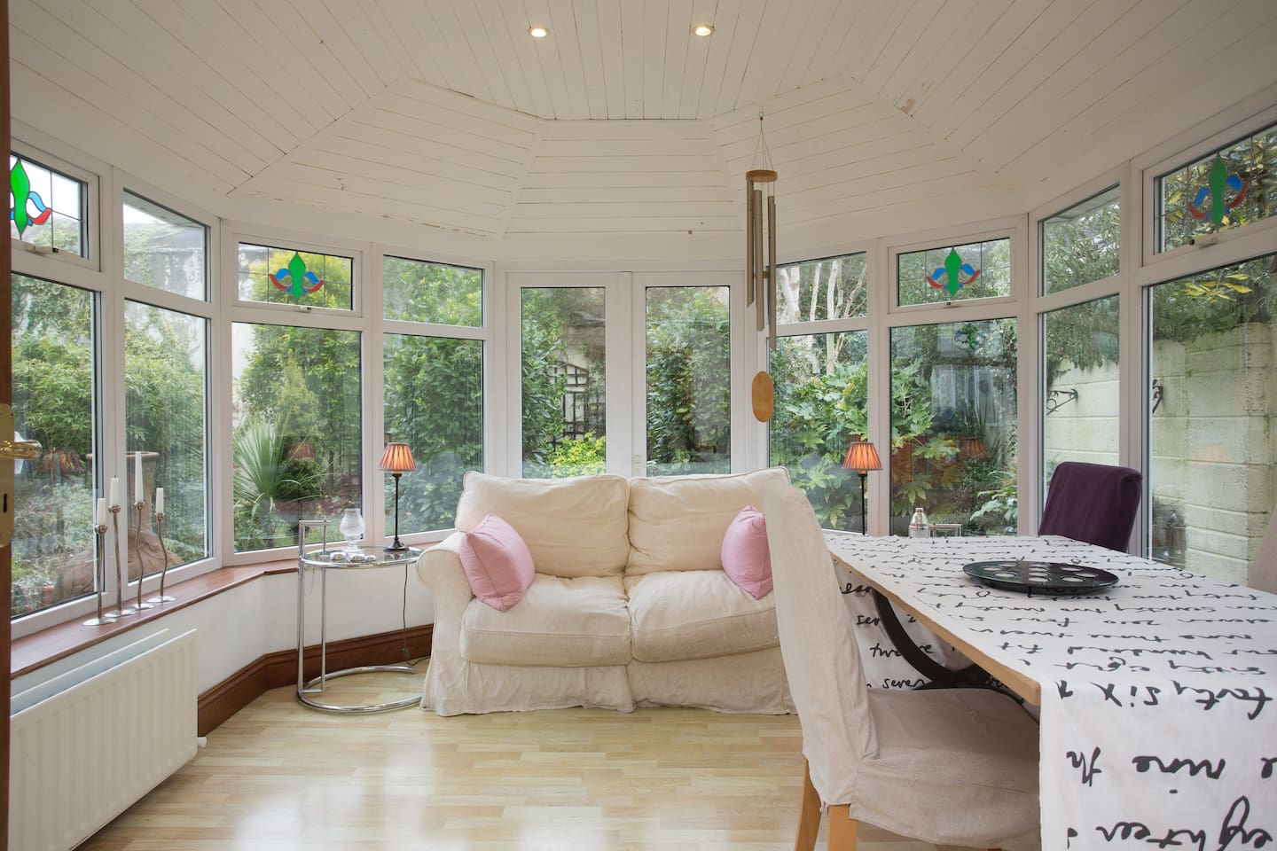 sunroom ...beautiful  space on a summer's day.