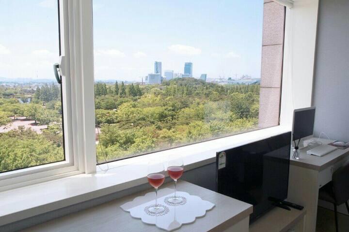 KINTEX(집전체,3bed)/깨끗하고 전망좋은집/lake-park/원마운트/라페/주차무료