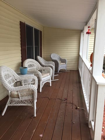 Front porch with seating during warmer weather
