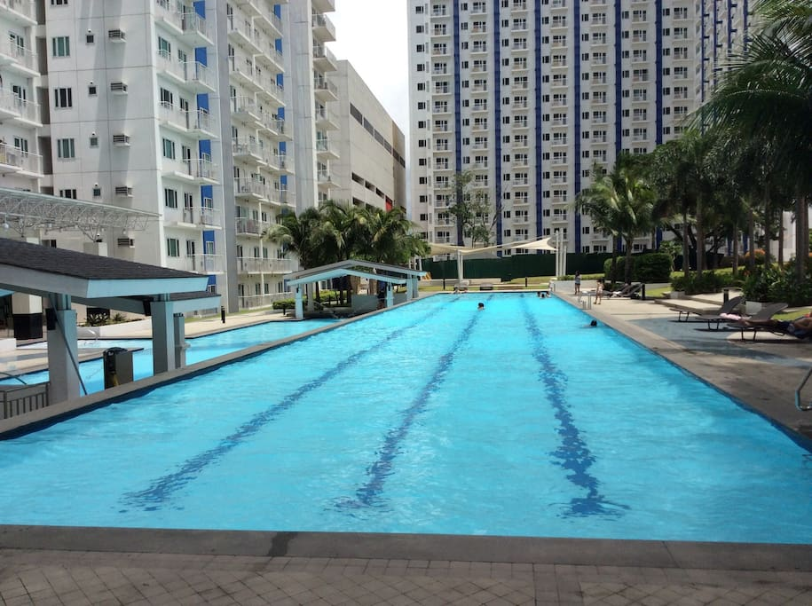 Lap pool and main pool