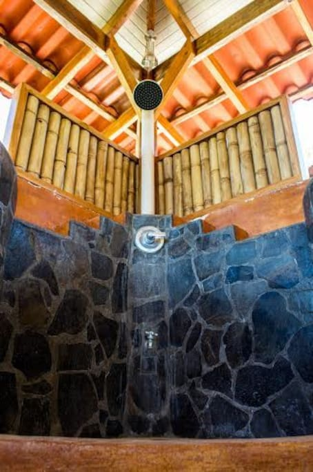Lanai terrace shower ...