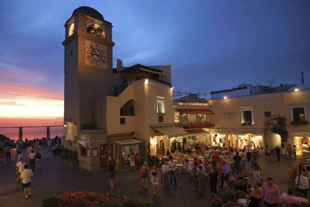Capri Square with Clock Bell Tower