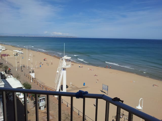 Fantastic beach view! Front view!  Real pictures !