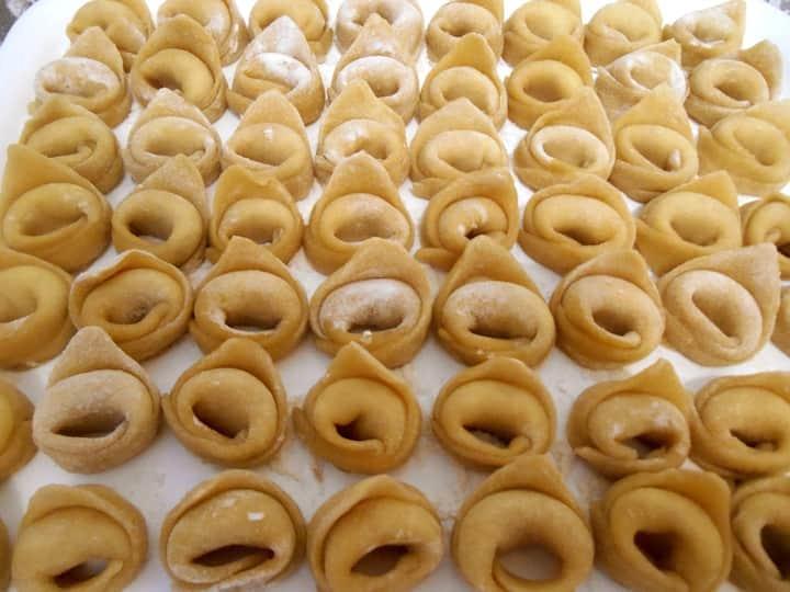 Ricotta stuffed ravioli