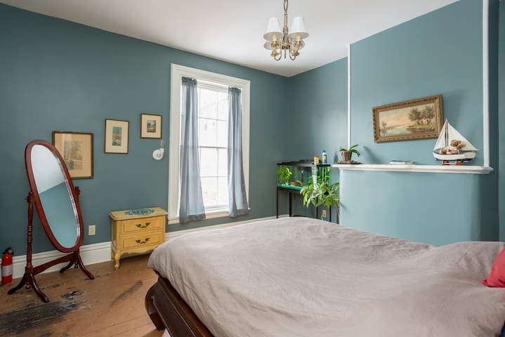 Downtown Victorian rowhouse - private room 1 - Troy - Bed & Breakfast