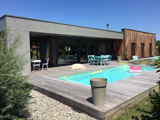 Maison/piscine, proche du golf, à 20km de Toulouse - Plaisance-du-Touch - Casa