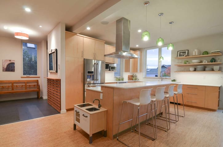 The kitchen was the first thing we thought of in designing this home and it is the heart of the home.