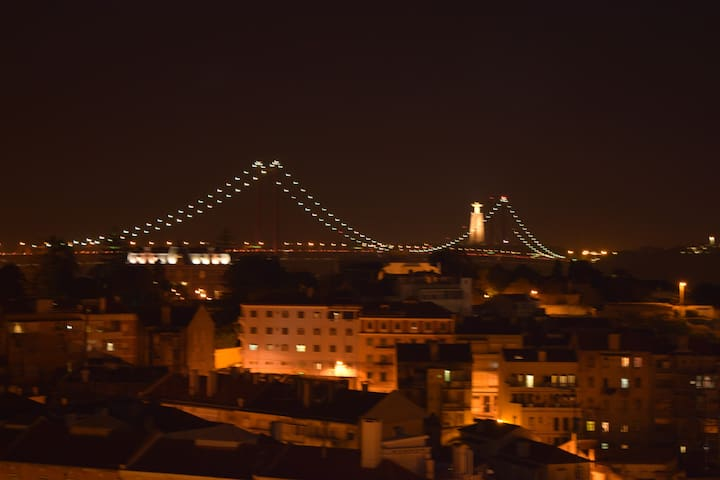 Lisbon 7th Hill - Bridge and River Panorama