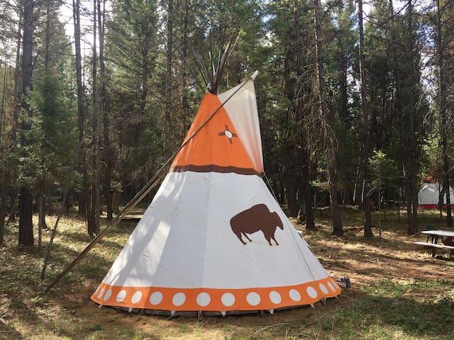 "A tipi name "" Geronimo"" in Montana"