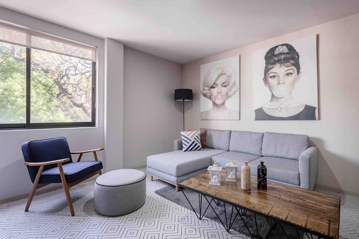 Enjoy Roma / Condesa at Fancy 2BR Apartment