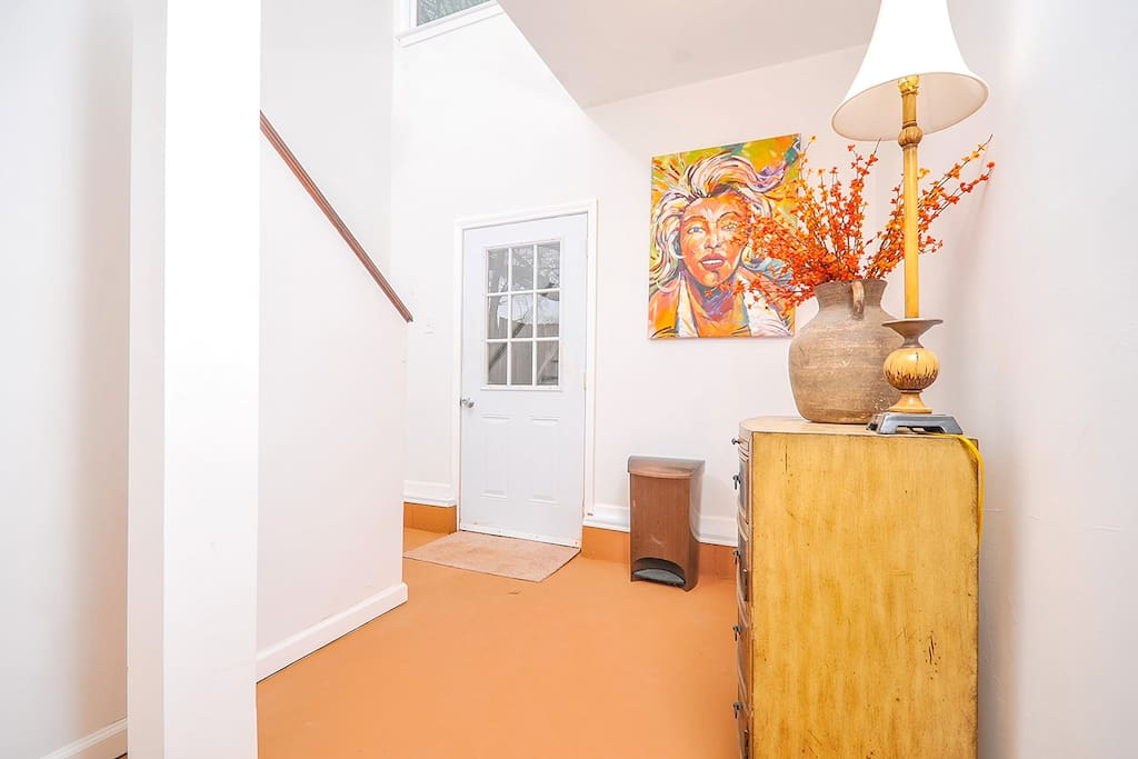 Bright Foyer and Private Entrance