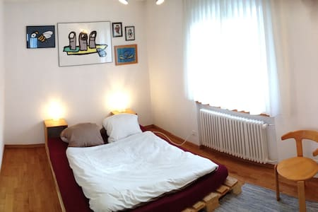 Ruhiges Doppelzimmer am Waldrand - Rorschacherberg - Bed & Breakfast
