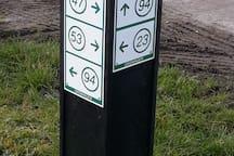 Duidelijk aangegeven fiets route's