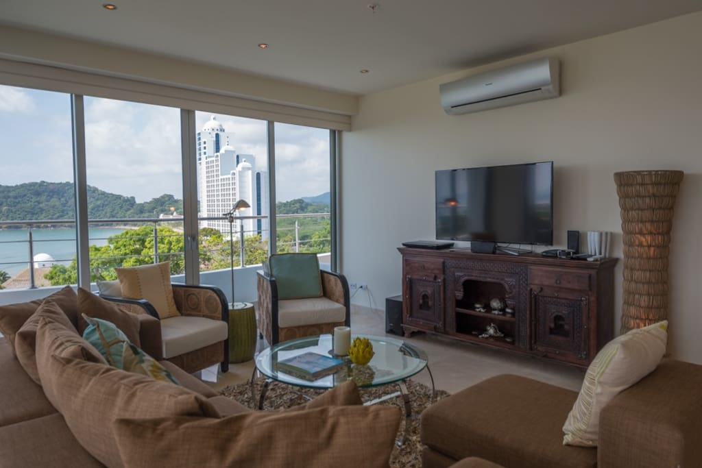 Enjoy views while relaxing in the living room.