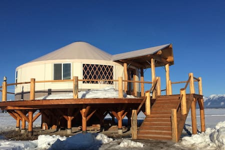 Beautiful Upscale Yurt bordering on Flathead Lake - Somers - 蒙古包