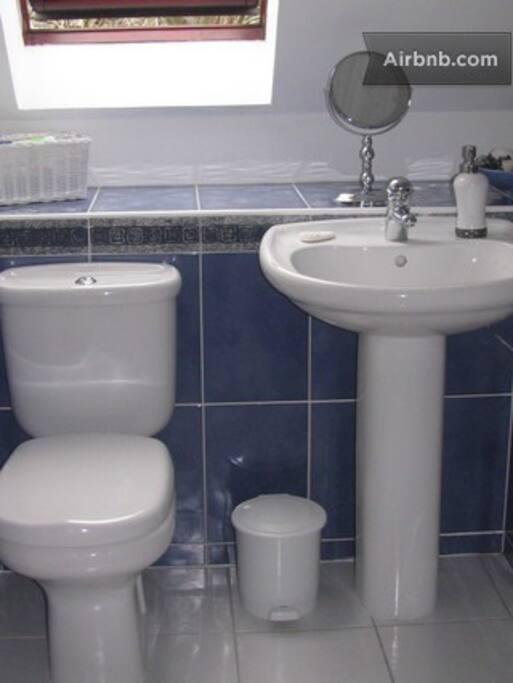 Crisp clean Bathroom/shower