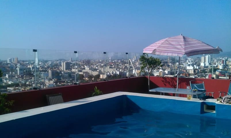 Room with rooftop pool access - Lima - Lägenhet