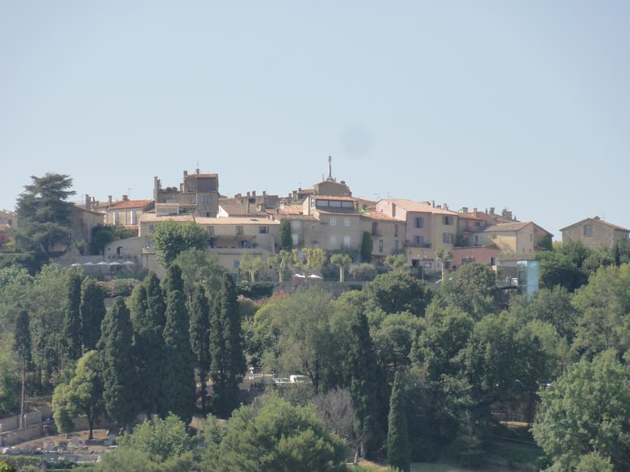 View from the villa of the old village of Mougins