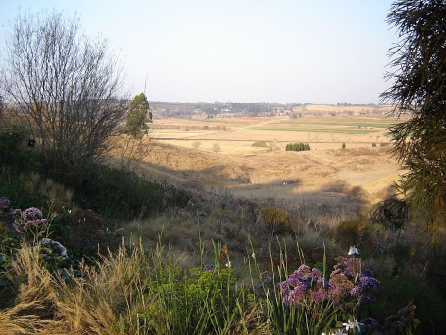 Views of the 12 hectare property which you can walk on