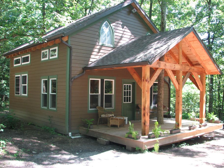 clarion river timberframe cabin houses for rent in